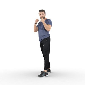 guy sports outfit 3D model