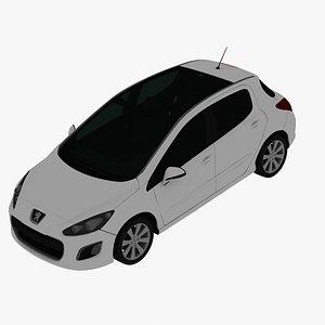 3D Peugeot 308