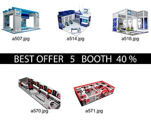 Booth Exhibition Stand c1 3D model