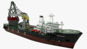 3D Floating Crane Iron Sailor