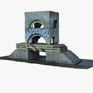 concrete structure 3D model