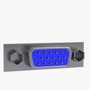 3D vga female connector 1 model