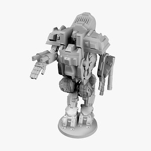 Sci-Fi Mech Miniature - 06 out of 09 3D model