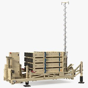 3D Iron Dome Mobile Air Defense System model
