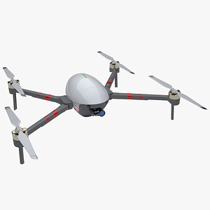 3D Drone replica with oval egg type shape