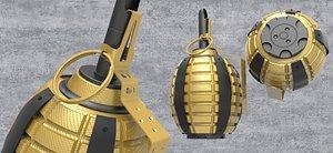 3D grenade gold model