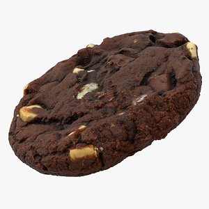 3D Realistic Chocolate Cookie model