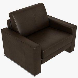 modular leather brown 3D model