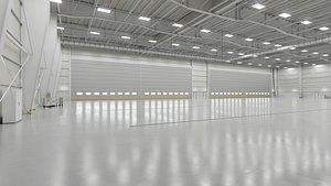 Airplane Hangar Interior 1b 3D model