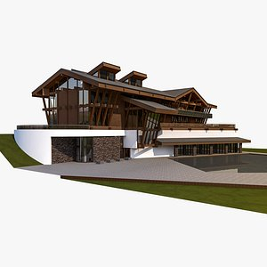 3D Library Building model