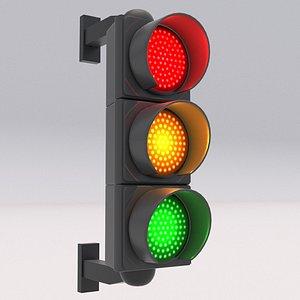 Traffic Light 01 3D model