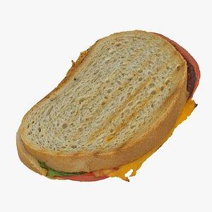 toast sandwich 3D model