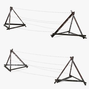 3D Razor Wire Block