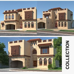 Islamic House Collection 3D model