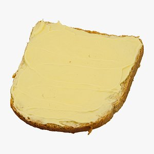 3D toast margarine 01 raw