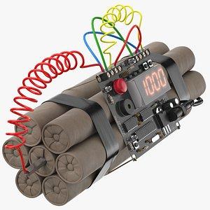 3D model bomb 01 10 min
