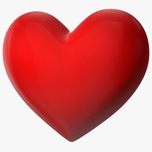 3D Red Heart Emoji model