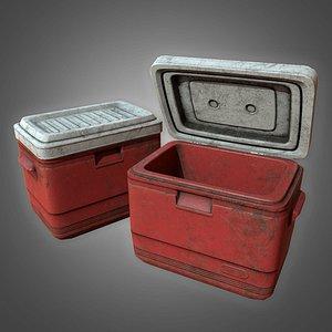 Old Plastic Cooler - PBR Game Ready 3D model Low-poly 3D model 3D