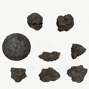 3D Asteroid Set model