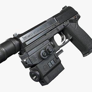 3D model Heckler Koch MK23 USSOCOM