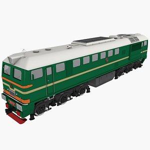 locomotive m62 russian 3D model