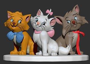 s aristocats sculpted 3D model
