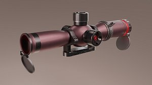 scope for weapon 3D