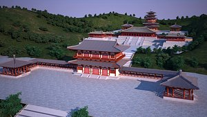 3D Ancient Chinese Architecture 01 model