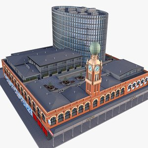 3D Dimmeys Coles Melbourne model