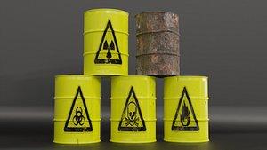 3D barrel nuclear model