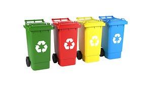 3D model Plastic Recycle Bin
