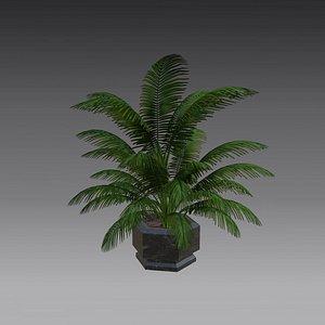3D Flowerpot low poly model