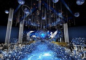 luxury wedding stage 3D model