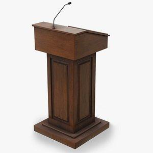 3D model podium furniture