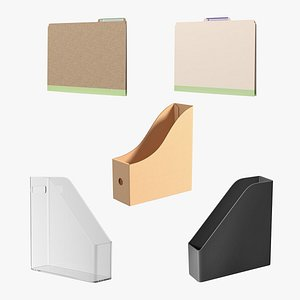 Paper File Holders Collection 3D
