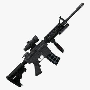 M4A Assault Riffle 3D model