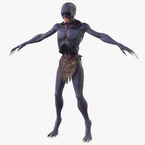 creature t pose fur 3D model