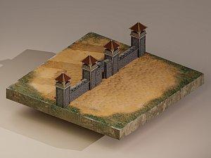 Castle Wall Level 5 model