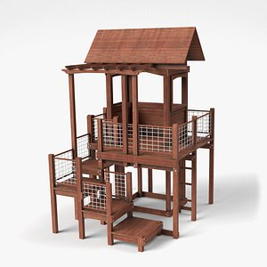 3D wooden playground wood