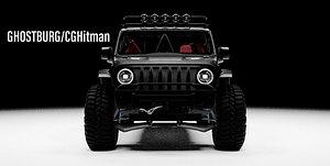 3D Jeep Gladiator Rubicon Modified