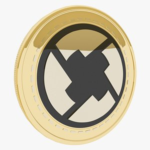 3D 0x cryptocurrency gold coin
