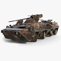 BTR-80A Burnt