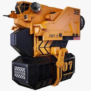 sci-fi cargo loader 3D model