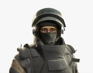 soldier spetsnaz russian 3D model