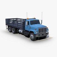 International 2574 3ax flatbed truck