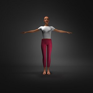 3D young female model
