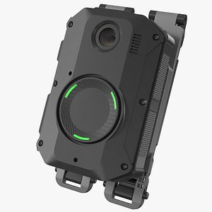3D model Police Body Camera on Molle Mount