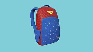 Wonder Woman Backpack - Character Fashion Design 3D model