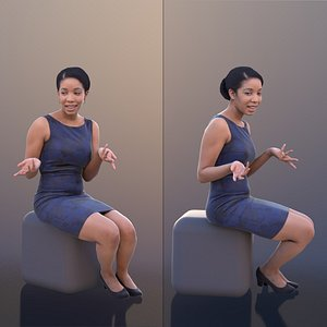 woman dress talking 3D model