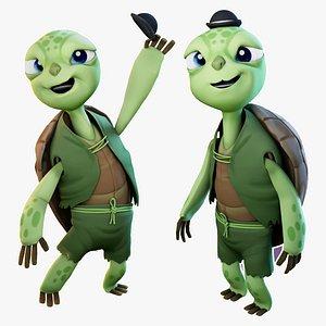 Cartoon Turtle Rigged 3D